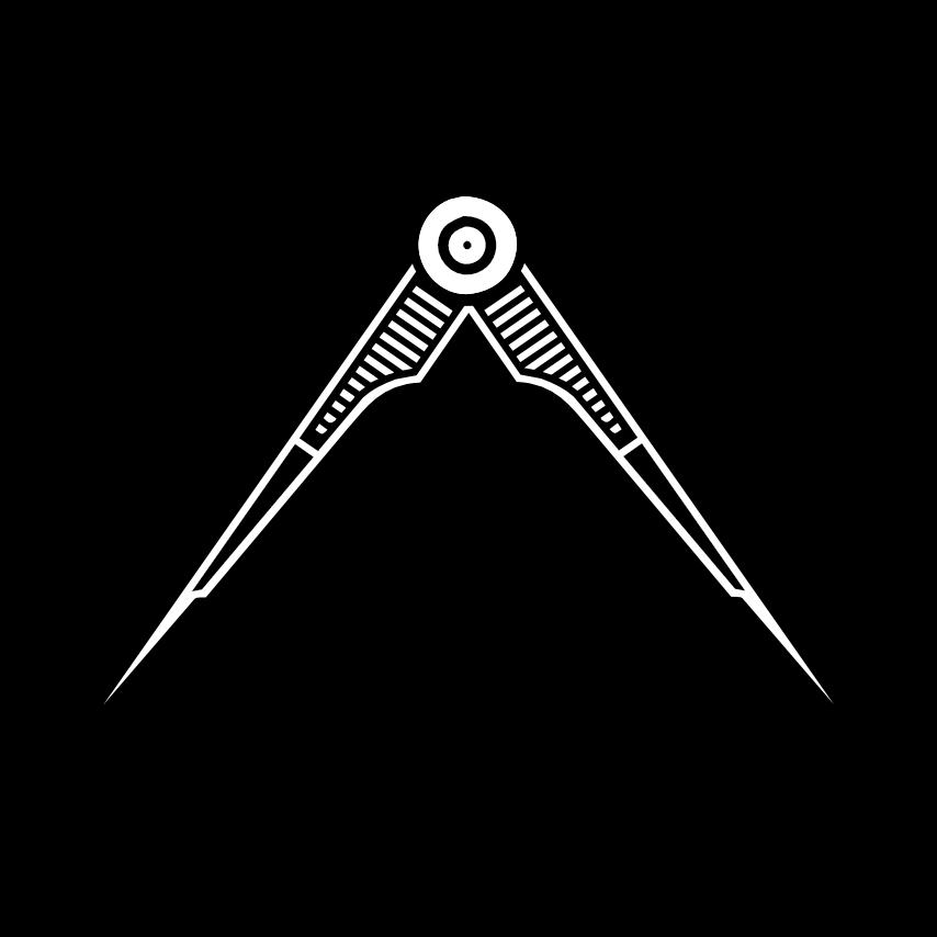 Freimaurer Symbole: Der Zirkel – u. a. ein Freimaurer-Symbol für Gemeinschaft, das All und den Kreislauf aller Dinge