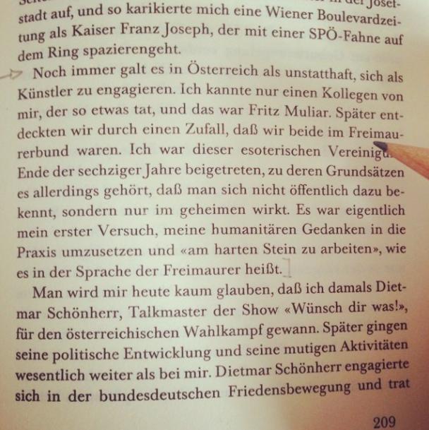 Karlheinz Böhms öffentliches Bekenntnis zur Freimaurerei