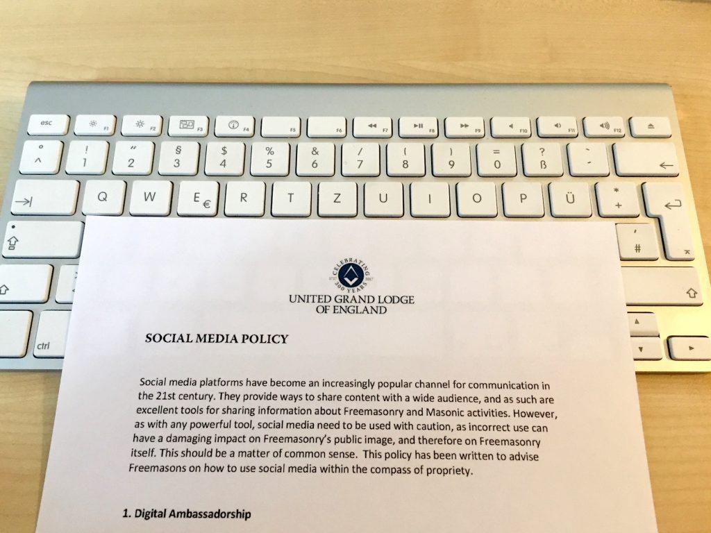 UGLE Social Media Policy